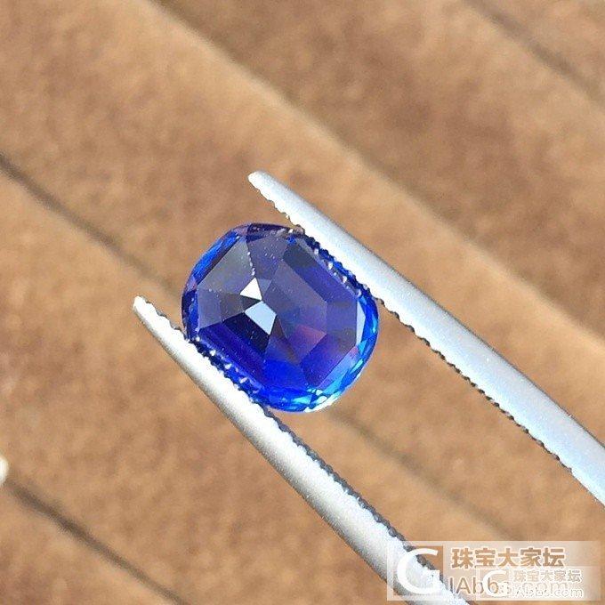 一颗非常漂亮的无烧蓝宝石-古柏林证书_蓝宝石刻面宝石