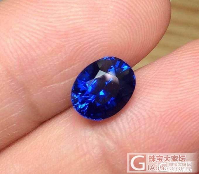 一颗无烧蓝宝,大家看看颜色算皇家蓝还是矢车菊?_蓝宝石刻面宝石