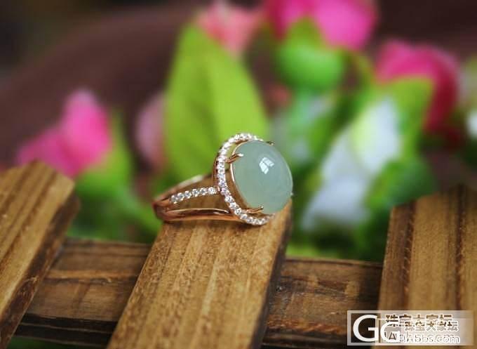 【挽玉阁】925银锆石镶嵌翡翠戒指 ...