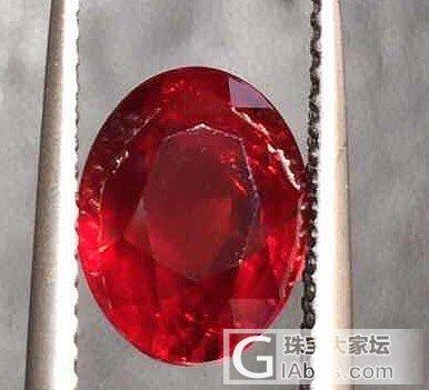 传说中的帝王红 哈哈_刻面宝石机构证书红宝石