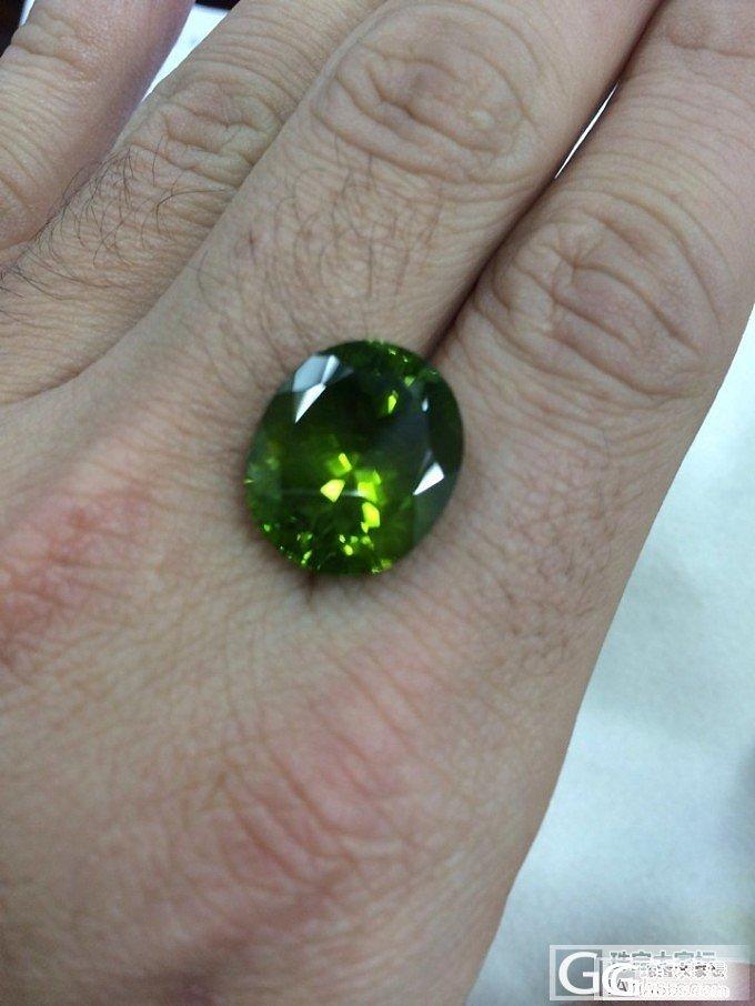 橄榄石 镶嵌戒指~~_橄榄石刻面宝石