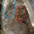 新手求助—新买的白水晶洞 有些共生物质 求大家解答